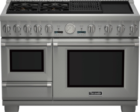 48 inch Professional Series Pro Grand Commercial Depth Dual Fuel Steam Range