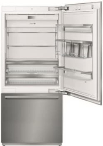 Model: T36BB920SS | 36 - Inch Stainless Steel Built in 2 Door Bottom Freezer, Pre-Assembled, Professional Handle