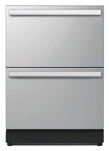 24 3/16 inch Under-counter Double Drawer Refrigerator Masterpiece Handle