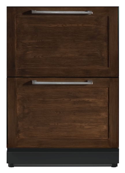 24 3/16 inch Under-counter Double Drawer Refrigerator Custom Panel Ready