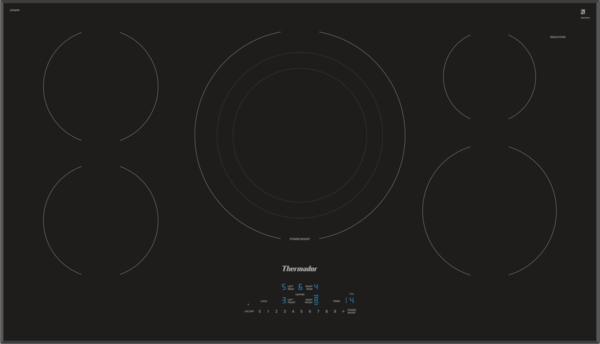 Thermador 36 INCH MASTERPIECE SERIES INDUCTION COOKTOP, BLACK