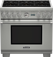 Model: PRD366JGU | Thermador 36 inch Professional Series Pro Grand Commercial Depth Dual Fuel Range