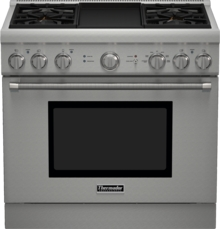 36 inch Professional Series Pro Harmony Standard Depth Dual Fuel Range