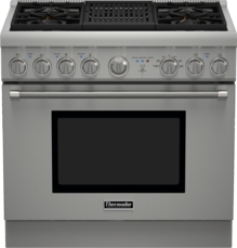 Thermador 36 inch Professional Series Pro Harmony Standard Depth Dual Fuel Range