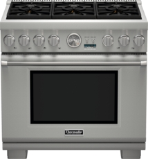 Thermador 36 inch Professional Series Pro Grand Commercial Depth Liquid Propane Range