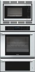 30 inch Masterpiece Series Triple Oven (oven, convection microwave and warming drawer) with professional handle MEMCW301EP