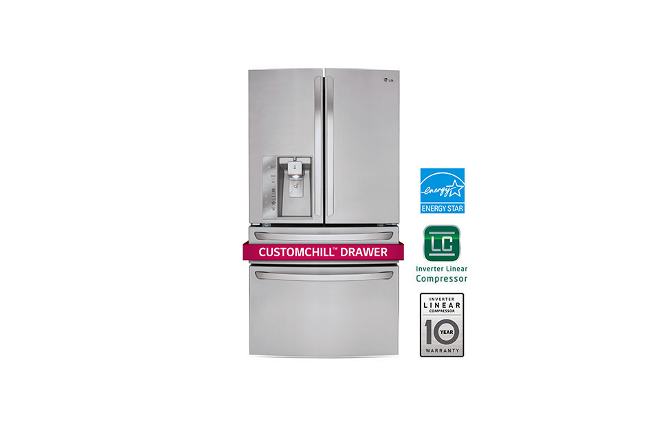 30 cu. ft. Super Capacity 4-Door French Door Refrigerator w/CustomChill® Drawer