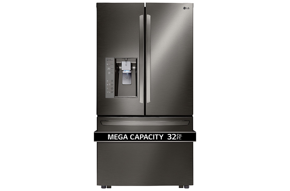 LG Black Stainless Steel Series 32 cu.ft. Mega Capacity 3-Door French Door Refrigerator