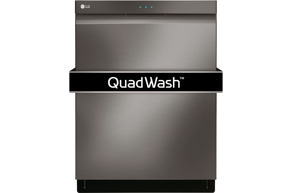 LG Black Stainless Steel Series Top Control Dishwasher with QuadWash™ and EasyRack™ Plus