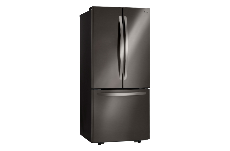 "LG LG Black Stainless Steel Series 21 cu. ft. Large Capacity 30"" Wide 3-Door French Door Refrigerator"