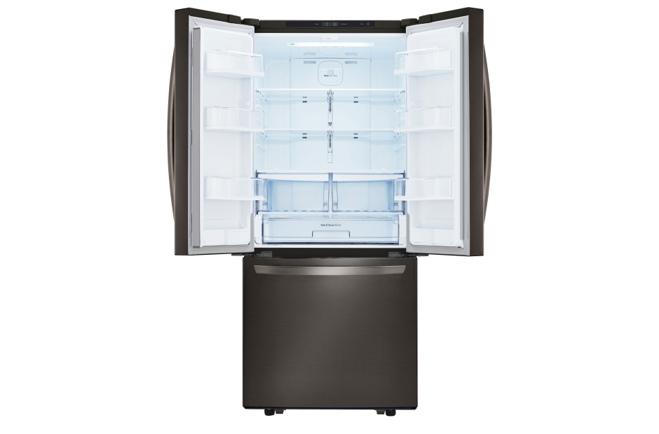 "Model: LFCS22520D | LG LG Black Stainless Steel Series 21 cu. ft. Large Capacity 30"" Wide 3-Door French Door Refrigerator"