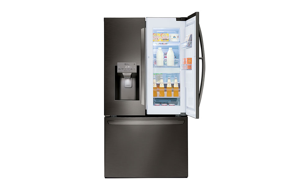 LG Black Stainless Steel Series 28 cu.ft. Capacity 3-Door Refrigerator with Door-in-Door