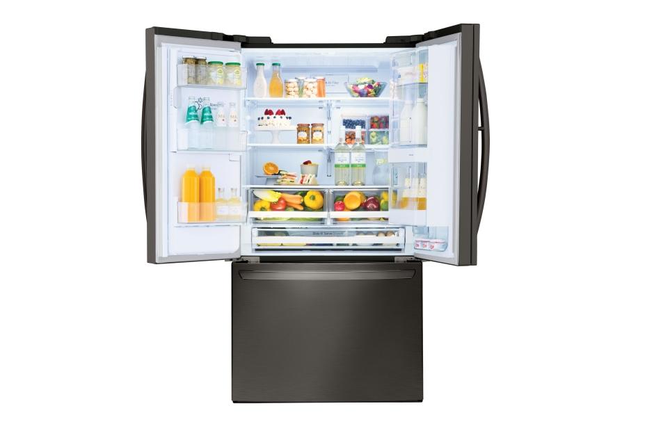 Model: LFXS28566D | LG LG Black Stainless Steel Series 28 cu.ft. Capacity 3-Door Refrigerator with Door-in-Door