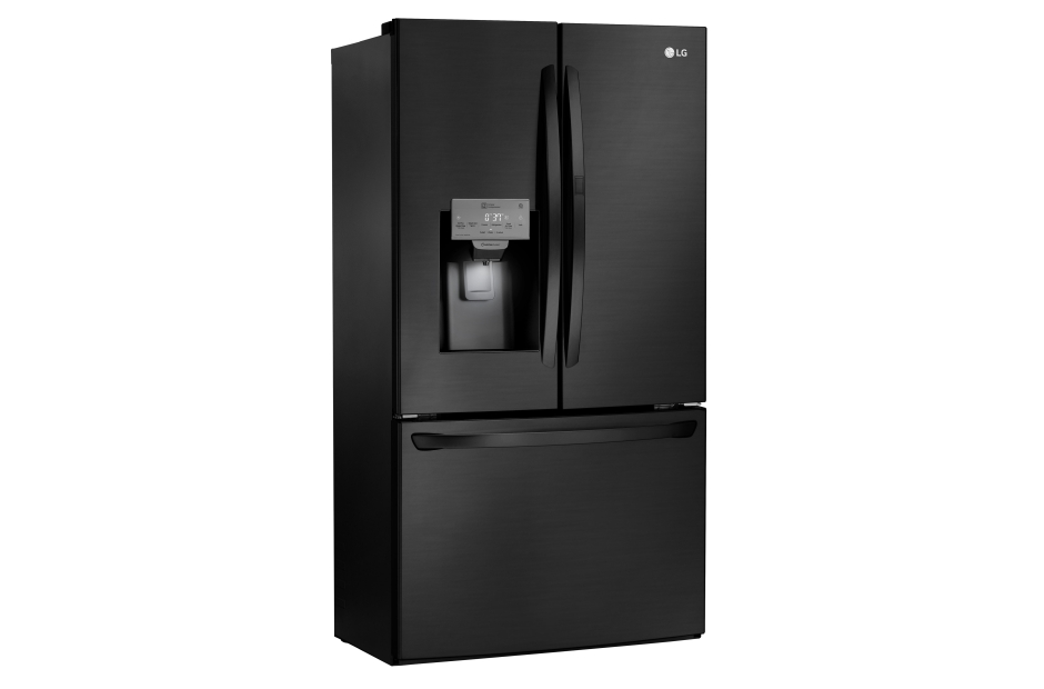 LG Matte Black Stainless Steel 28 cu.ft. 3-Door Refrigerator with Door-in-Door