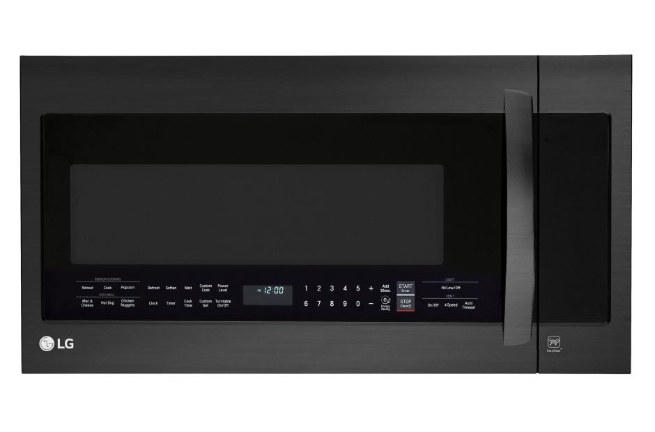 LG Matte Black Stainless Steel 2.0 cu.ft. Over-the-Range Microwave Oven with EasyClean