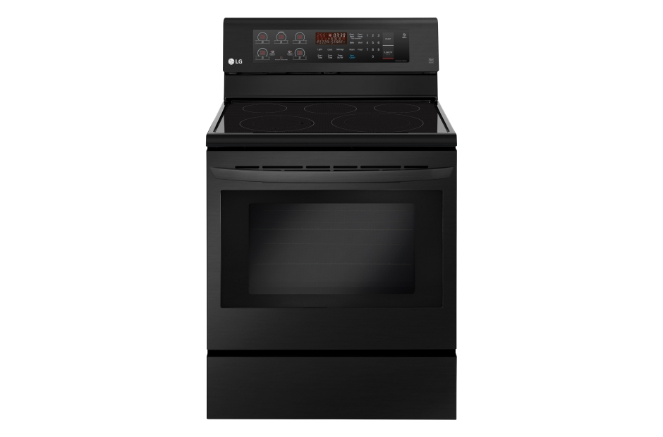 LG Matte Black Stainless Steel 6.3 cu. ft. Capacity Electric Single Oven Range with True Convection and EasyClean