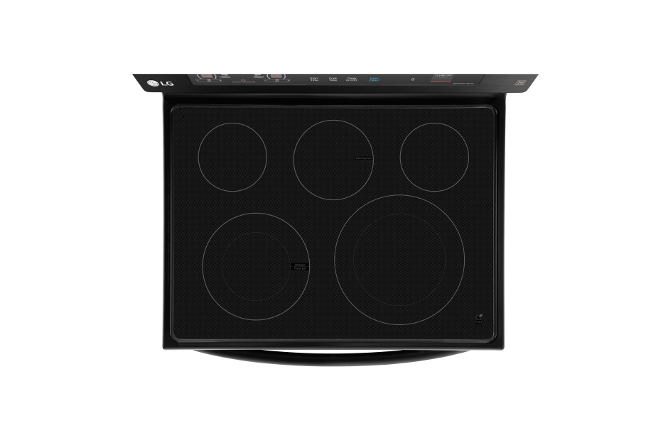 Model: LRE3193BM | LG Matte Black Stainless Steel 6.3 cu. ft. Capacity Electric Single Oven Range with True Convection and EasyClean