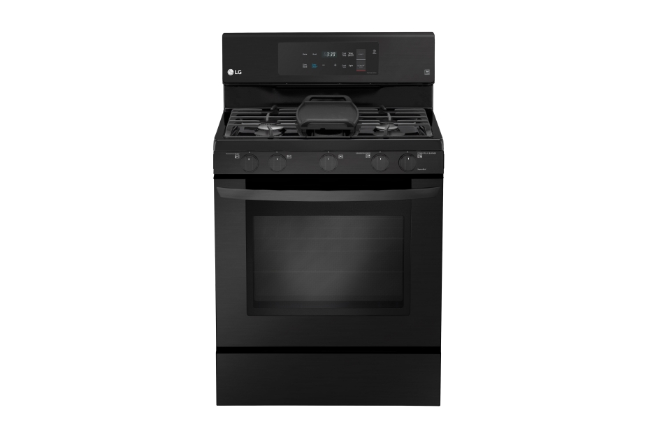 LG Matte Black Stainless Steel 5.4 cu. ft. Capacity Gas Single Oven Range with EvenJet Fan Convection and EasyClean