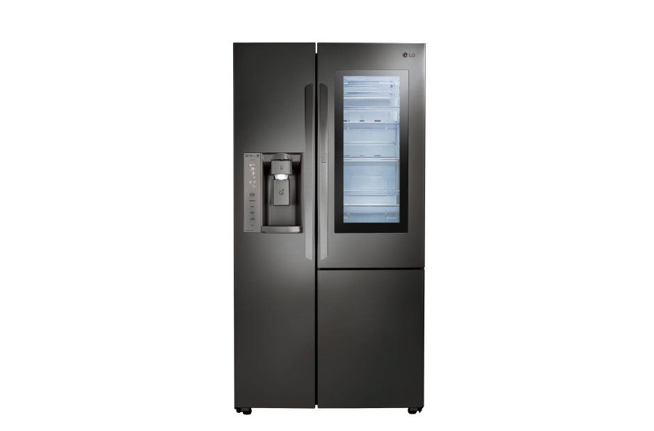 Model: LSXC22396D | LG Black Stainless Steel Series 22 cu.ft. InstaView Door-in-Door Side-By-Side Counter-Depth Refrigerator