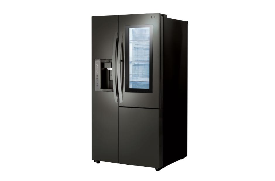 lg black stainless steel refrigerator. LG Black Stainless Steel Series 22 Cu.ft. InstaView Door-in-Door Lg Refrigerator L