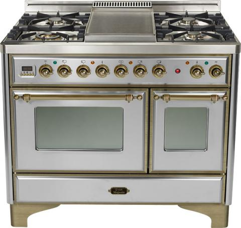 Majestic 40-inch Range-Stainless Steel With Bronze Trim and Griddle