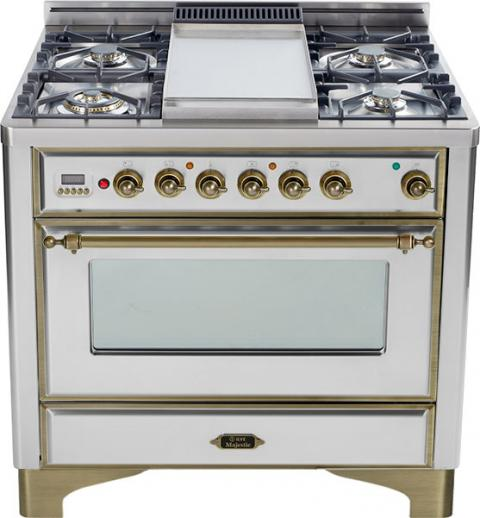 Majestic 36-inch Range-Stainless Steel With Bronze Trim and Griddle