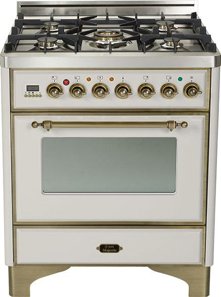 Majestic 30-inch Range-Stainless Steel With Bronze Trim With Bronze Trim
