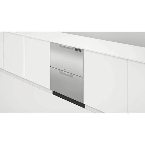 "Model: DD24DAX9N | Fisher and Paykel 24"" Double DishDrawerTM Dishwasher"