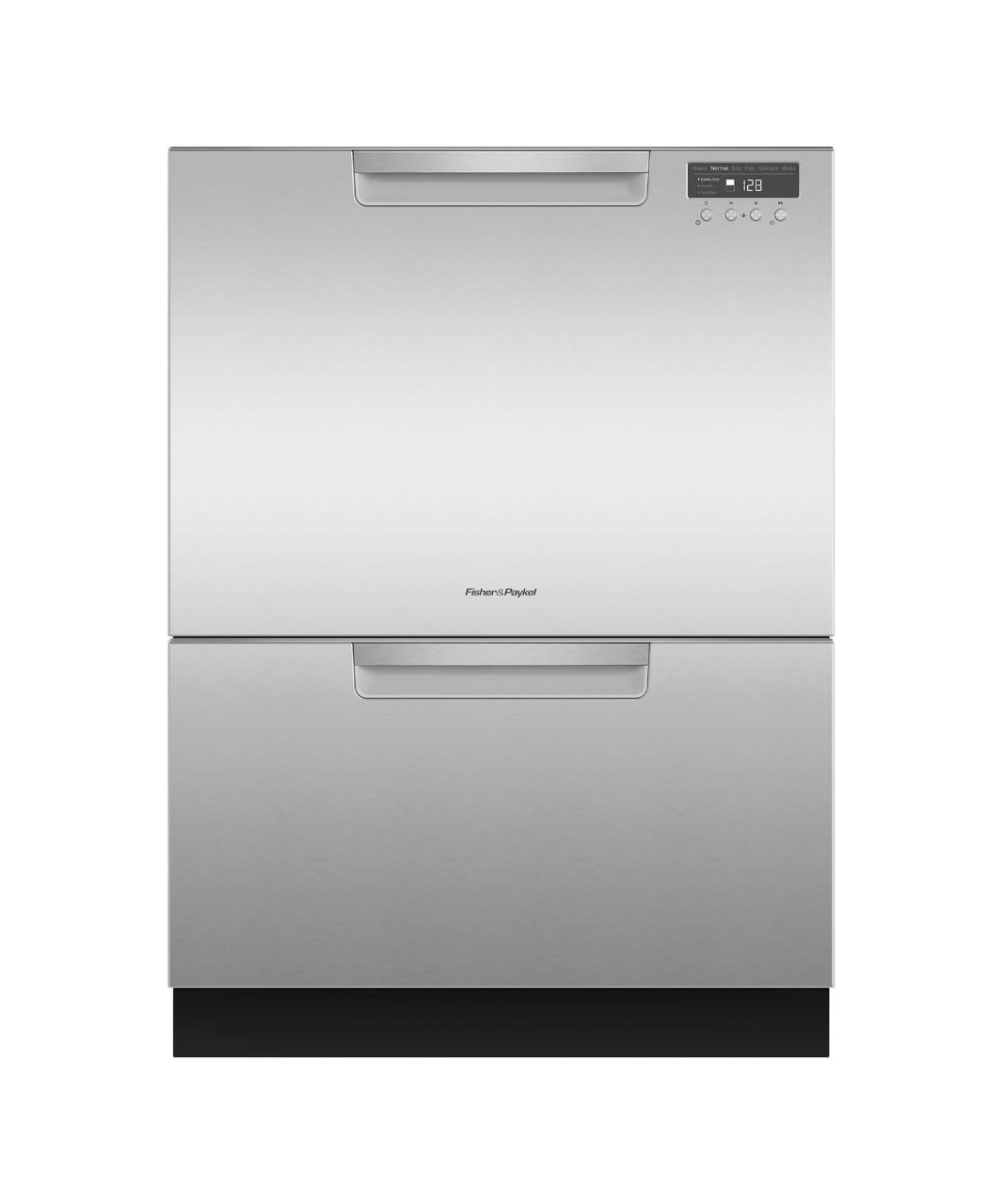 Fisher and Paykel Tall Double DishDrawer dishwasher incl Sanitize, Extra Dry and full flex racking