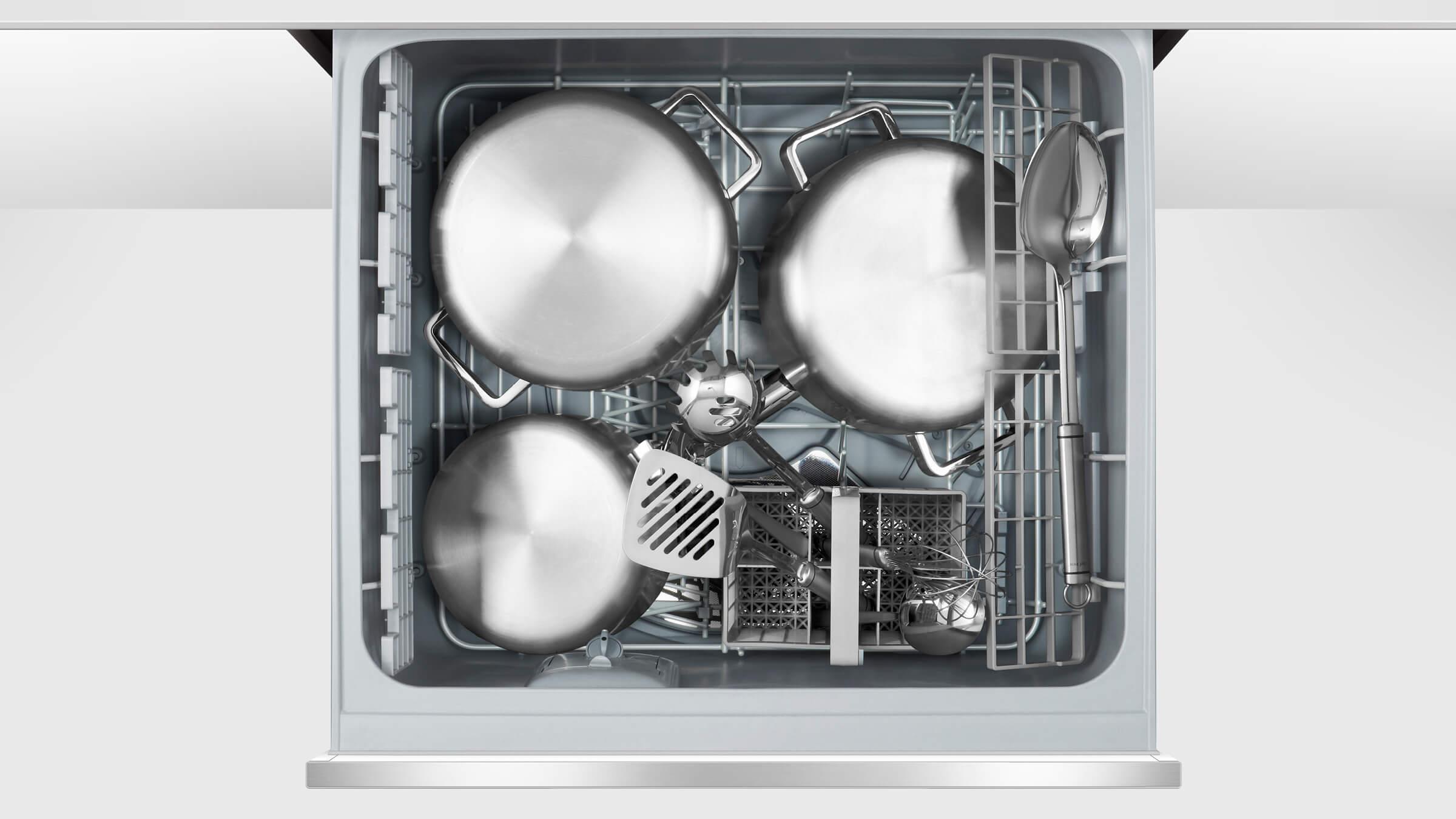 Tall Single DishDrawer dishwasher incl Santize, Extra Dry and full flex racking