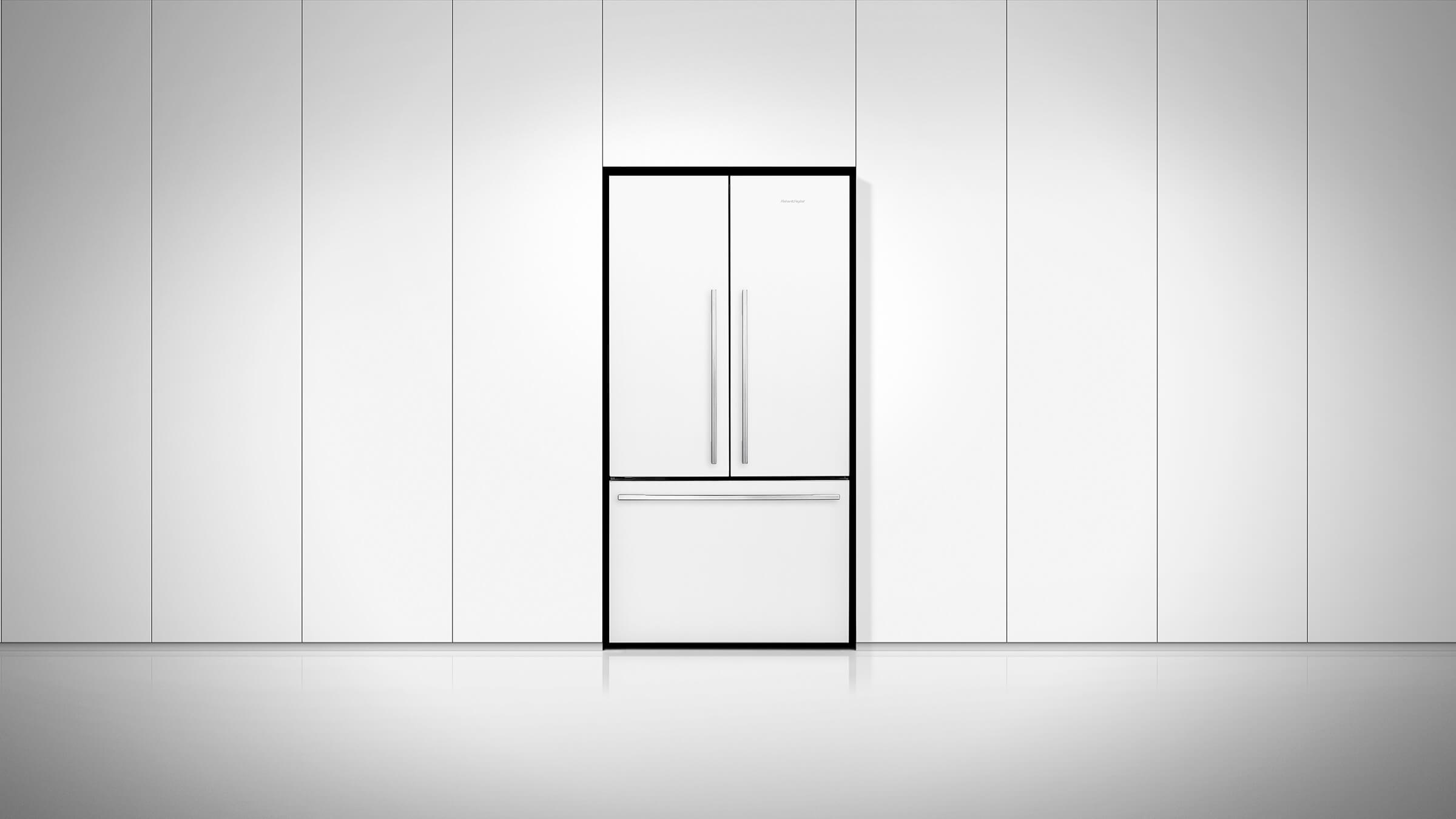 Fisher And Paykel Rf201adw5 French Door Refrigerator 201 Cu Ft