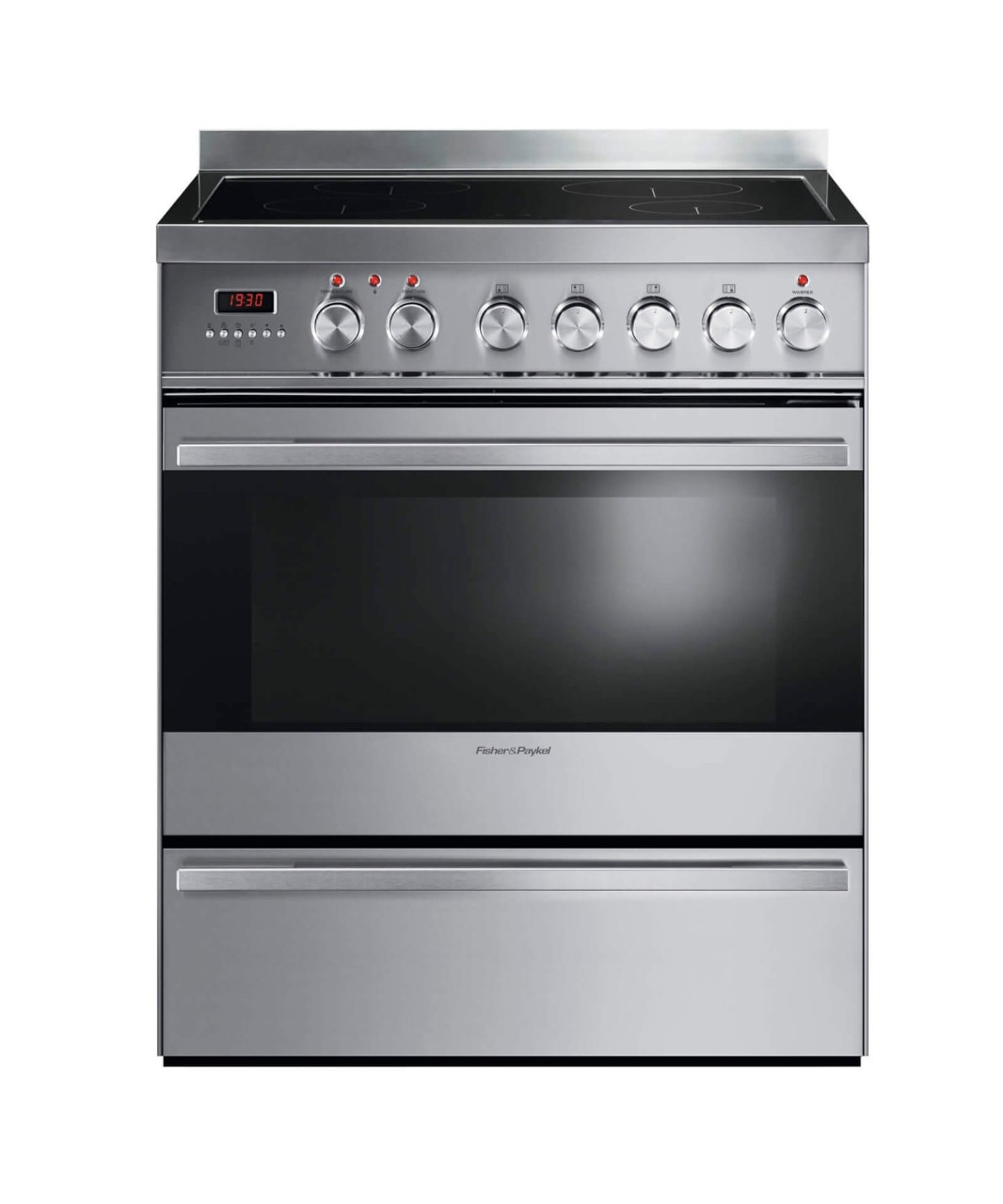 "Fisher and Paykel Induction Range 30"", Self Cleaning"