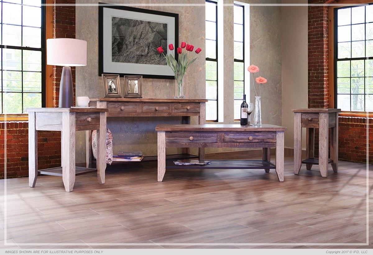 International Furniture Sofa Table w/3 Drawers_x000D_ 53 lb