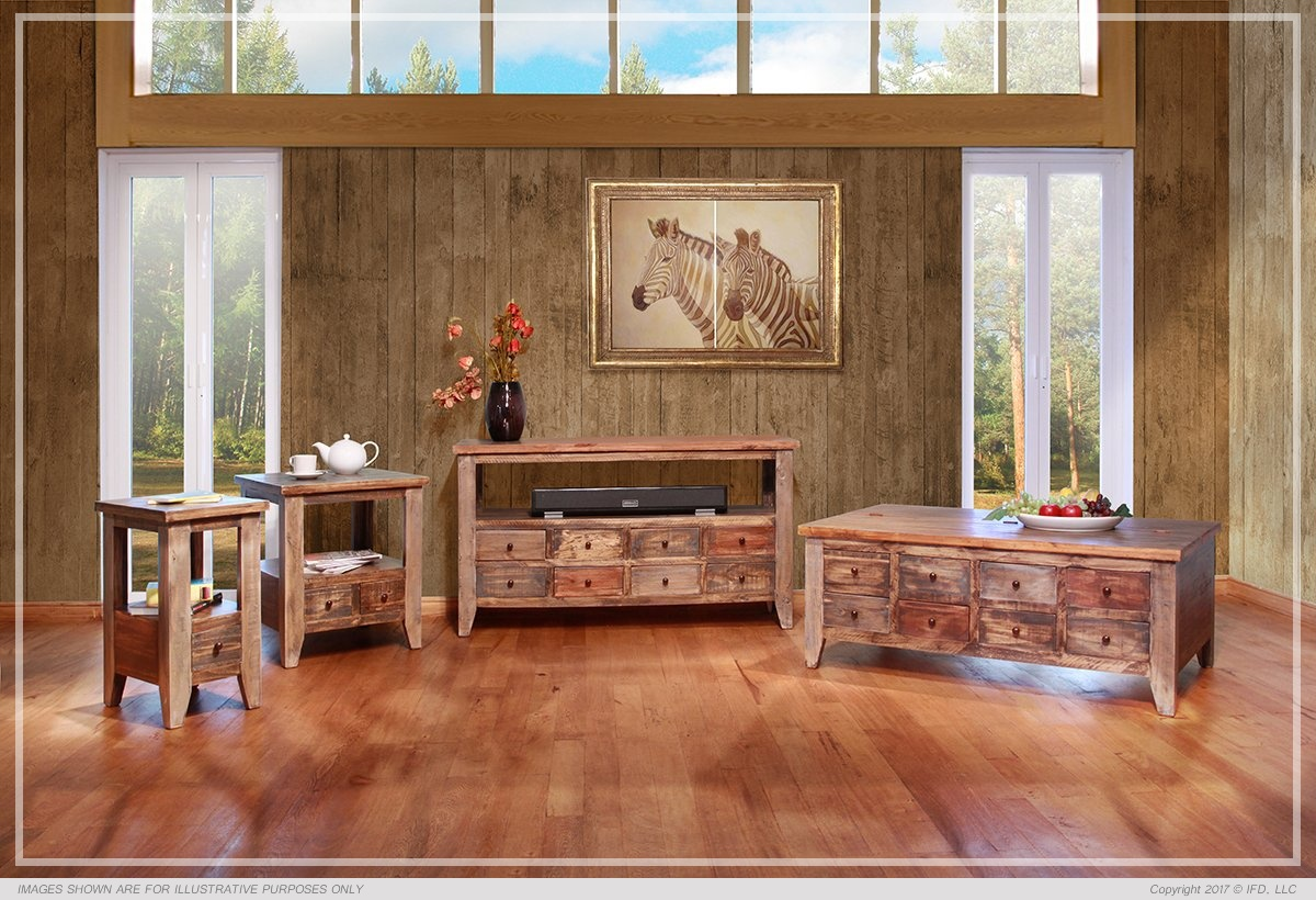 International Furniture Sofa Table w/8 Drawers_x000D_ 74 lb