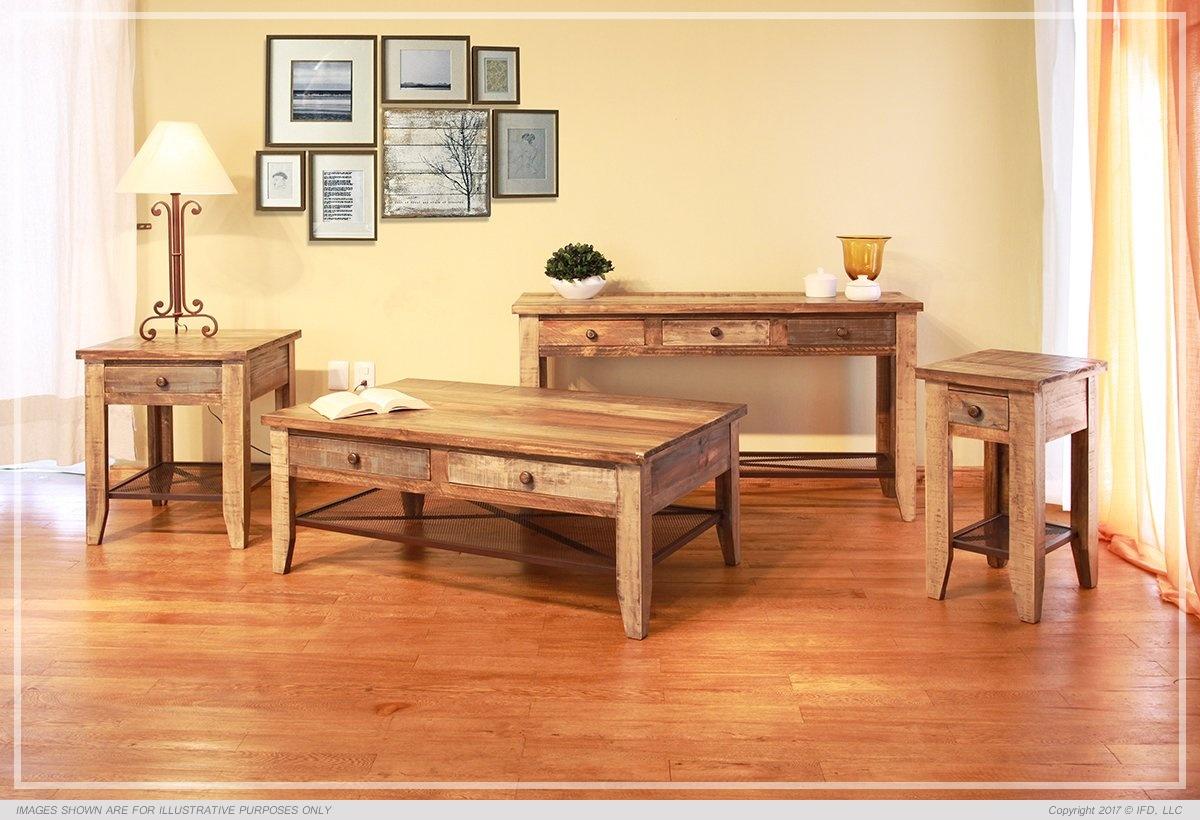 International Furniture Sofa Table w/3 Drawers_x000D_ 55 lb