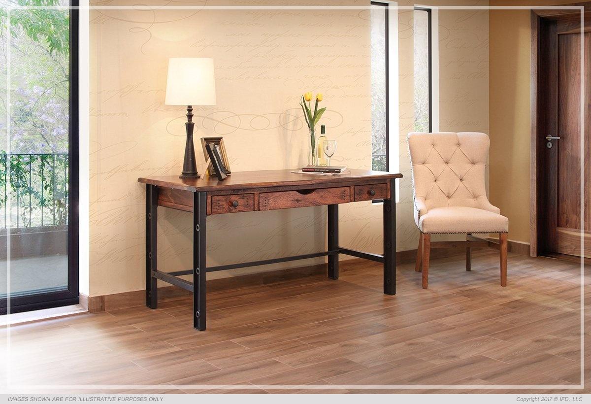 Writing Desk, Parota Wood & Iron Legs*_x000D_ 120 lb