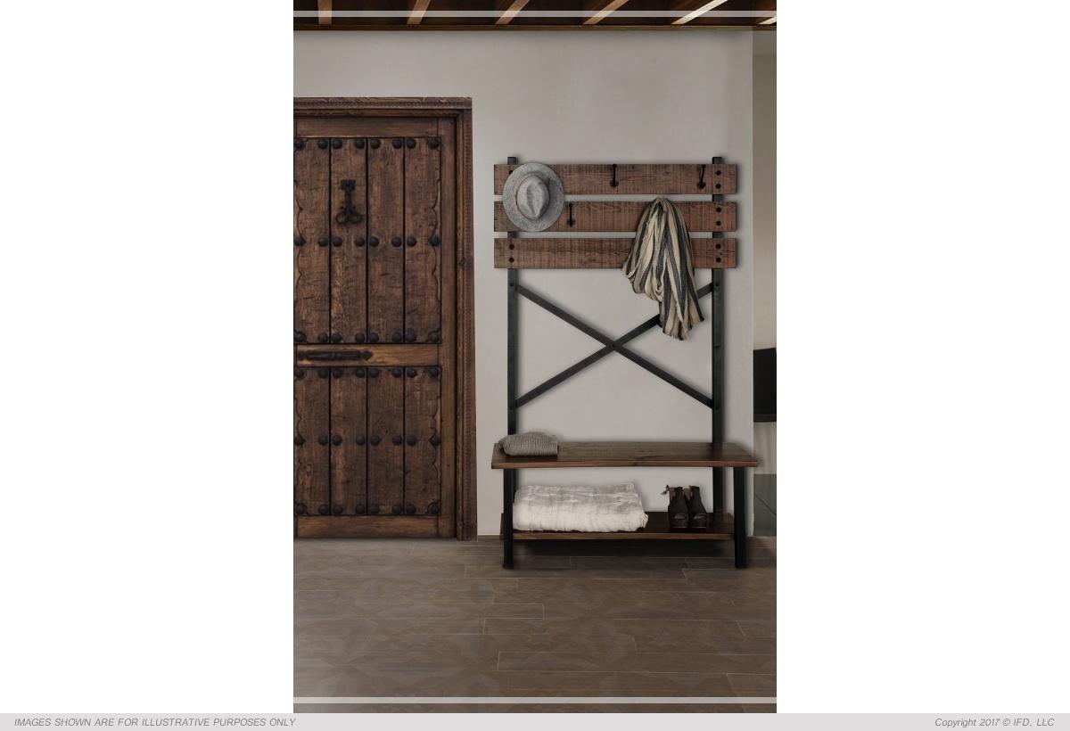 International Furniture Hall tree - Bench w / hooks**_x000D_ 45 lb