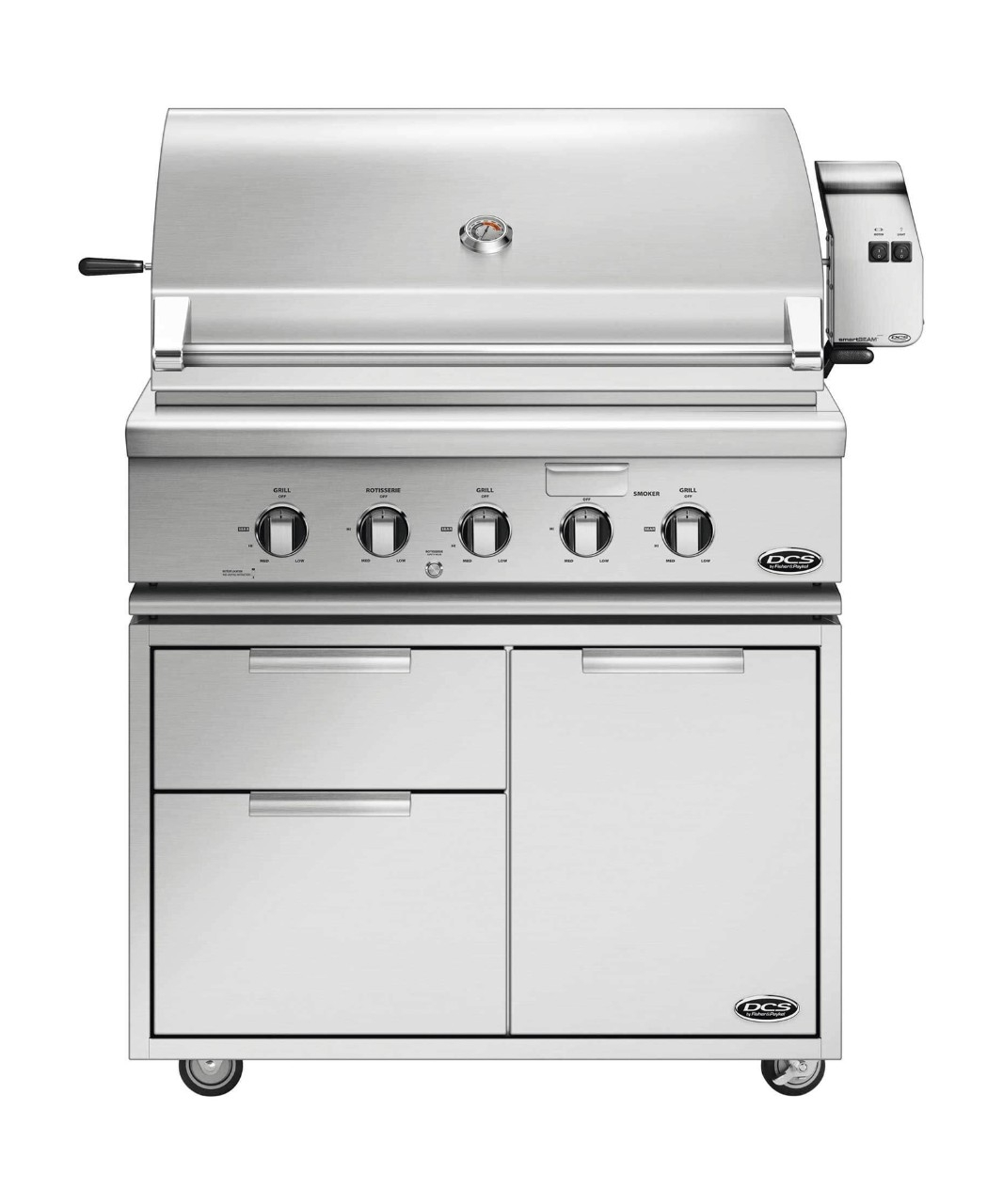 "DCS 36"" TRADITIONAL GRILL WITH ROTISSERIE, GRIDDLE AND HYBRID IR BURNER"