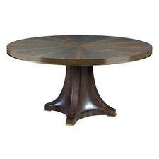 La-Z-Boy Ad Modern Organics Camby Round Dining Table Complete