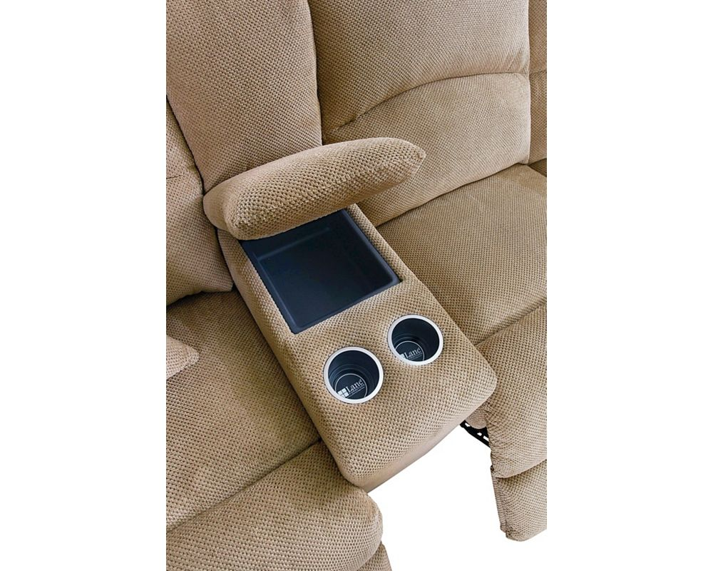 Model: 230-06 | Lane Grand Torino Right-Arm Facing Double Reclining Console Loveseat With Storage (Power)