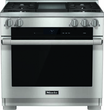 "Miele HR 1936 DF GD 36"" Duel Fuel Range with Built-In Griddle - Natural Gas"