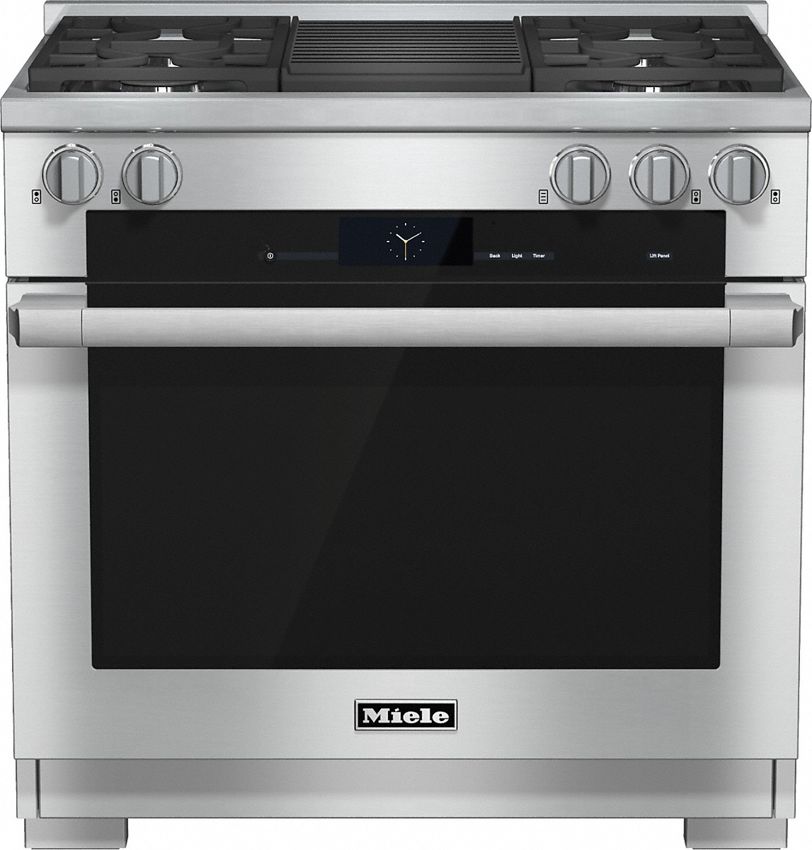 "Miele HR1935 DF GR 36"" Duel Fuel Range with Built-In Barbecue  - Natural Gas"