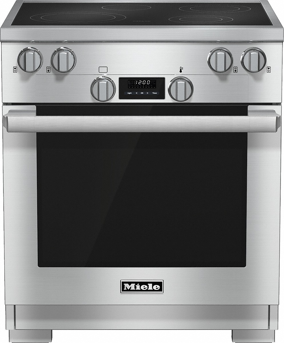 Miele 30 inch rangeElectric with DirectSelect controls and TwinPower convection fans