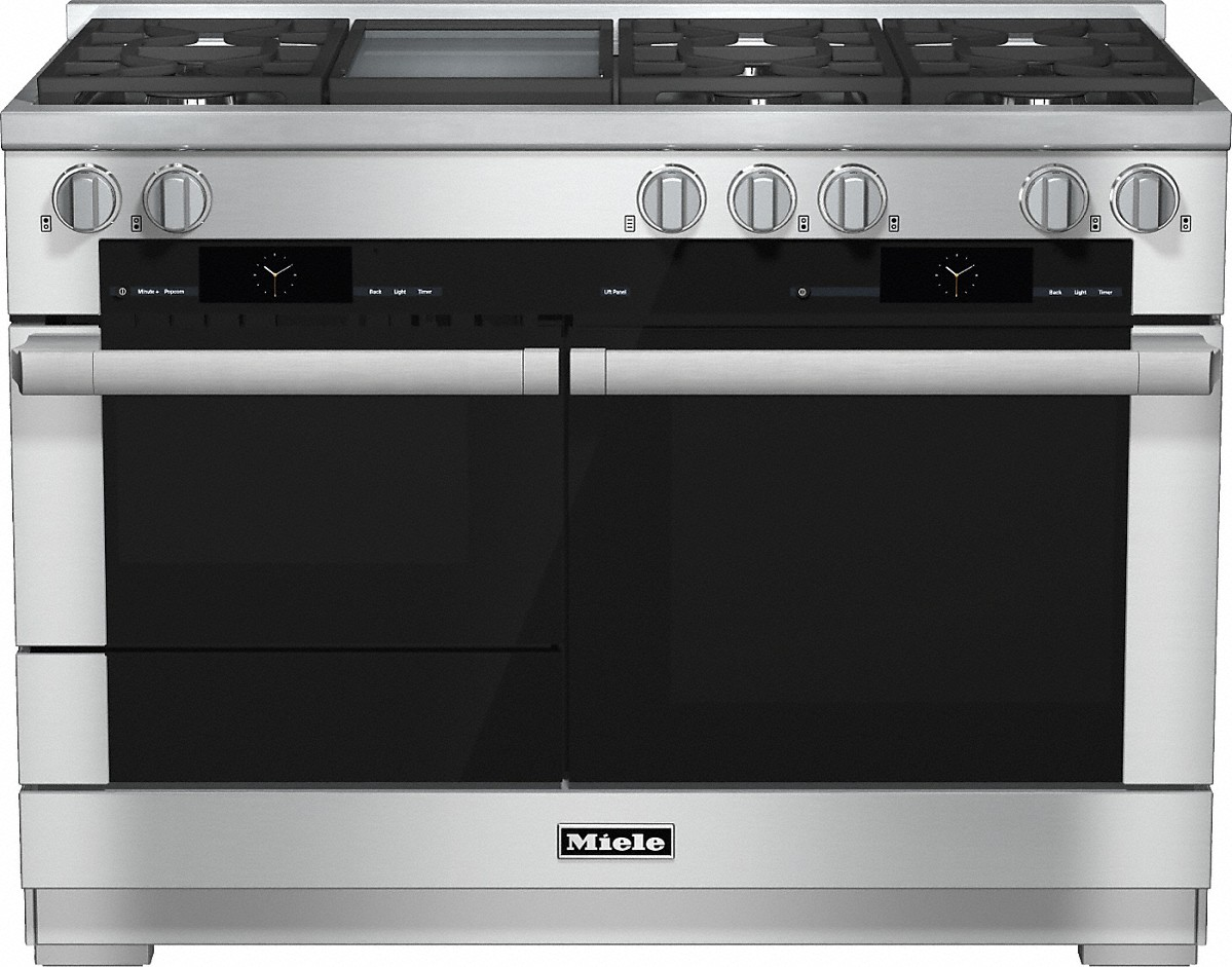 Miele 48 inch range Dual Fuel with M Touch controls, Moisture Plus and M Pro dual stacked burners