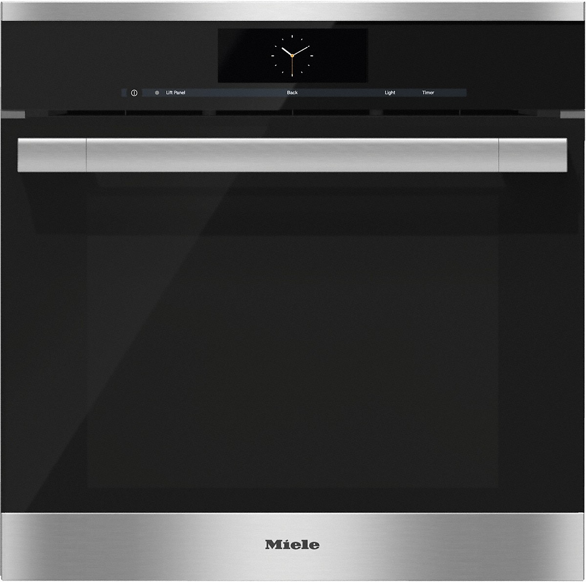 Steam oven with full-fledged oven function and XXL cavity- the Miele all-rounder with mains water connection for discerning cooks.