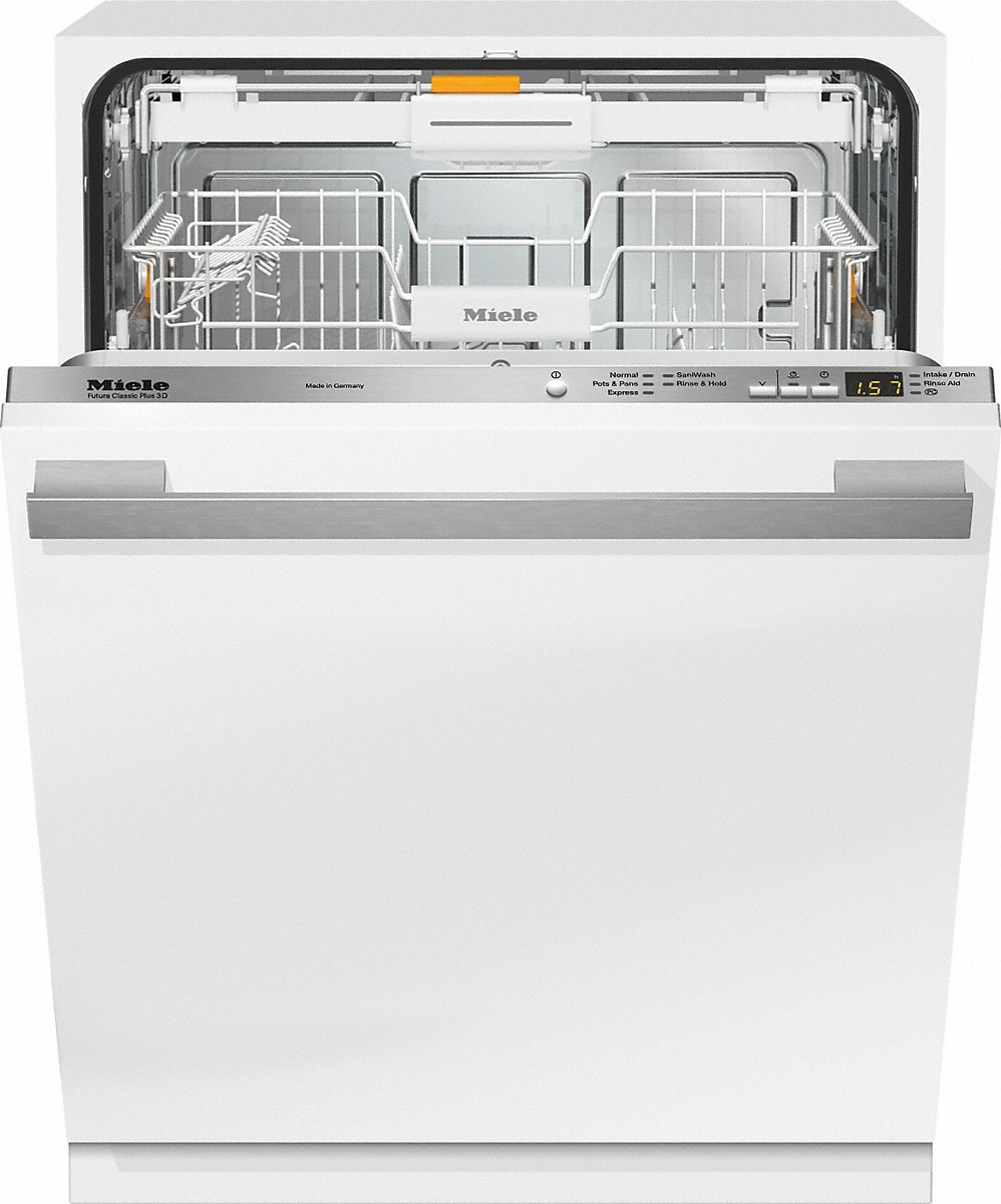 Fully-integrated, ADA dishwasherwith hidden control panel