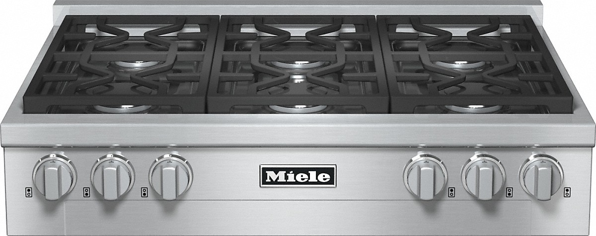 Miele RangeTop with 6 burners for professional applications