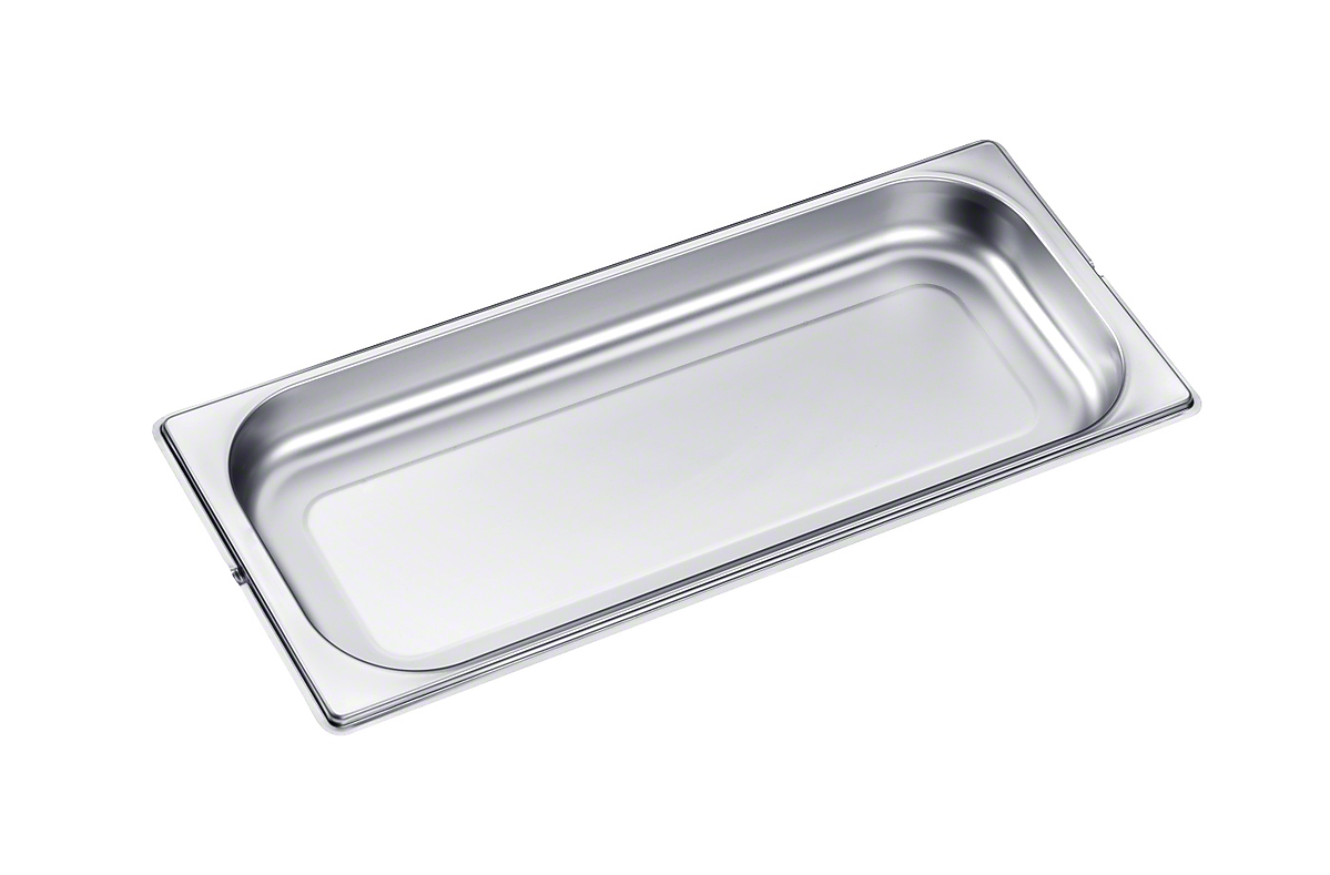 Miele Unperforated steam oven pan for cooking food in gravy, stock, water (e.g. rice, pasta).