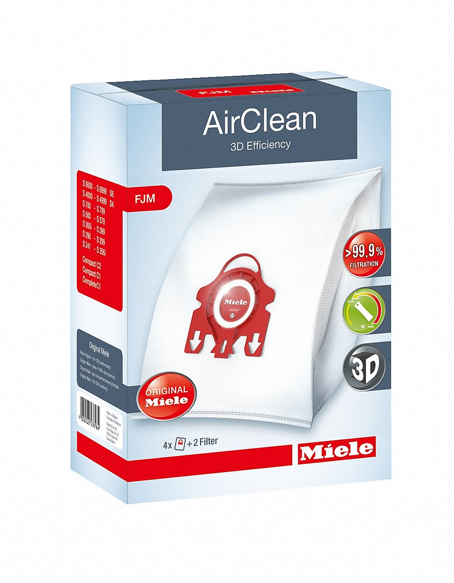 AirClean 3D Efficiency FJM dustbagsensures that dust picked up stays inside the machine.