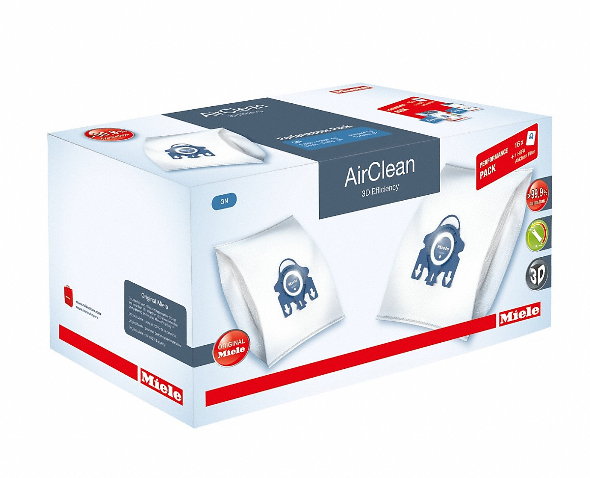 Model: GN HA50 Performance AirClean 3D | Miele Performance Pack AirClean 3D Efficiency GN 5016 dustbags and 1 HEPA AirClean filter at a discount price